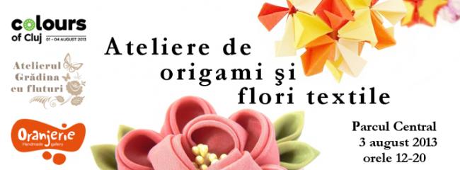 Atelier de origami şi flori textile la Colours of Cluj