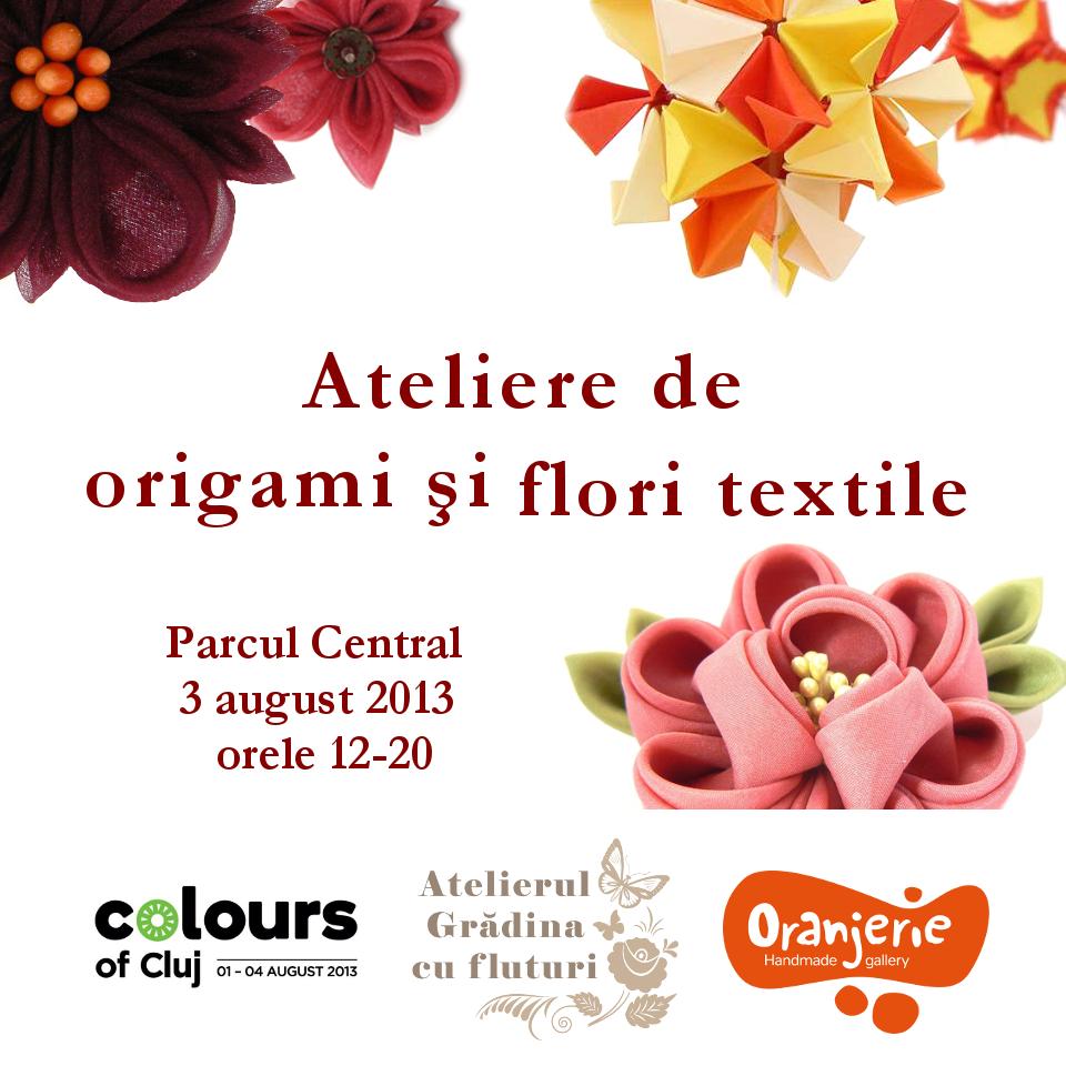 ateliere de origami şi flori textile la Colours of Cluj