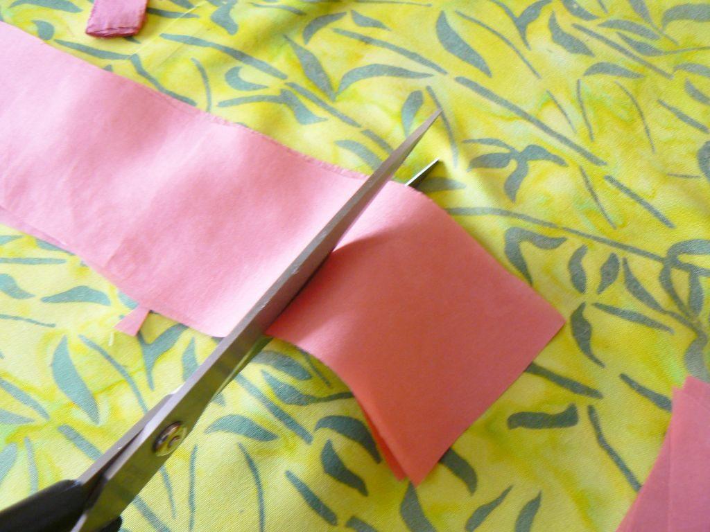Cum pregatesti materialele - tăierea în pătrate