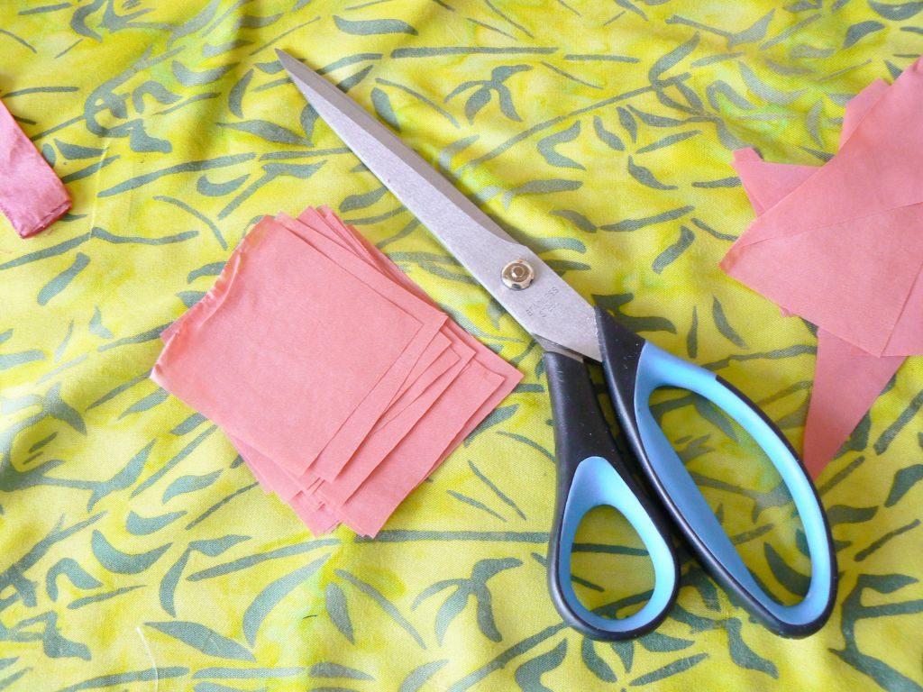 Cum pregatesti materialele - diferite pătrate