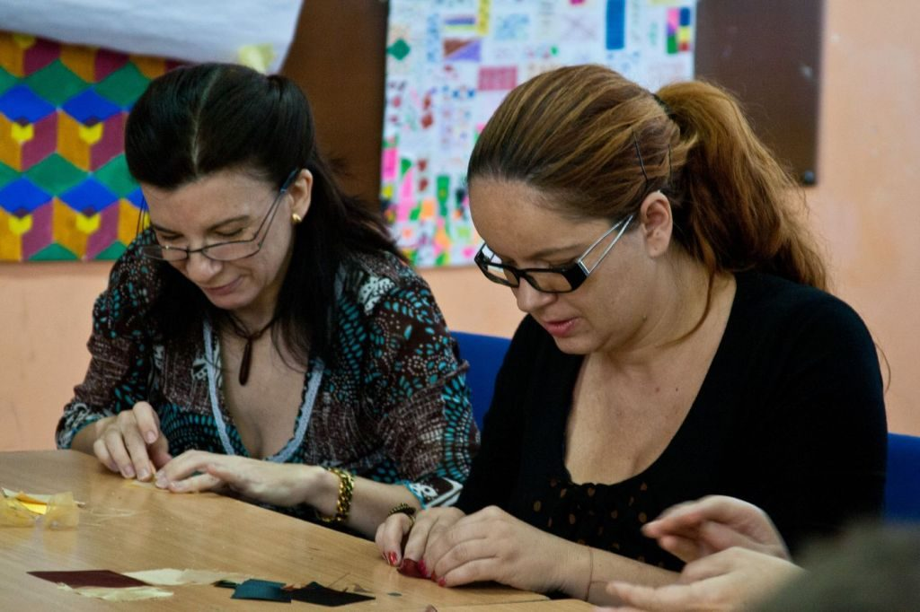 Workshop de albine kanzashi la Timișoara 10