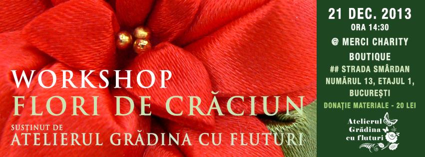 Atelier Flori de Craciun la Bucuresti 21 decembrie