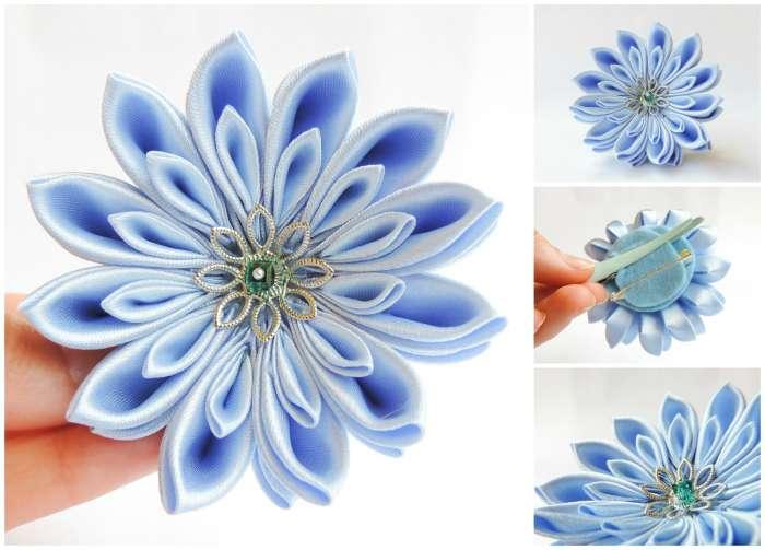 Crizantema bleu deschis mica