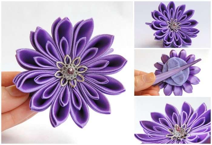 Crizantema mov deschis mica