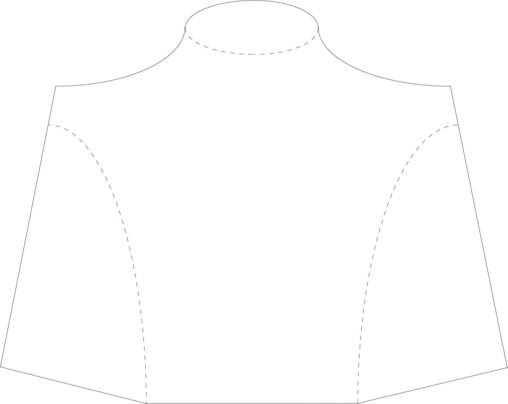 DIY necklace display stand template - sablon - model bust prezentare coliere