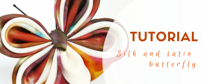 Silk satin and organza butterfly tutorial