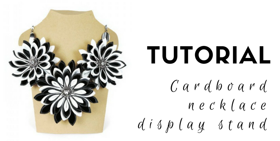 Tutorial cardboard necklace display stand