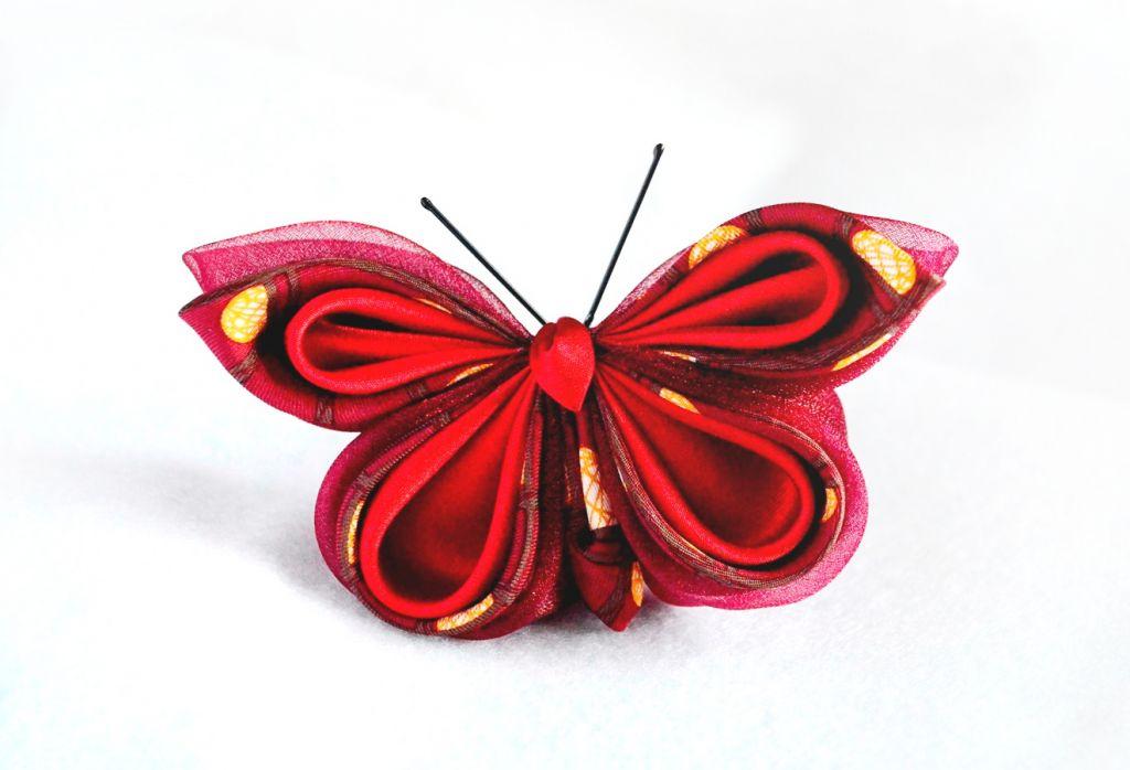 fluture rosu visiniu
