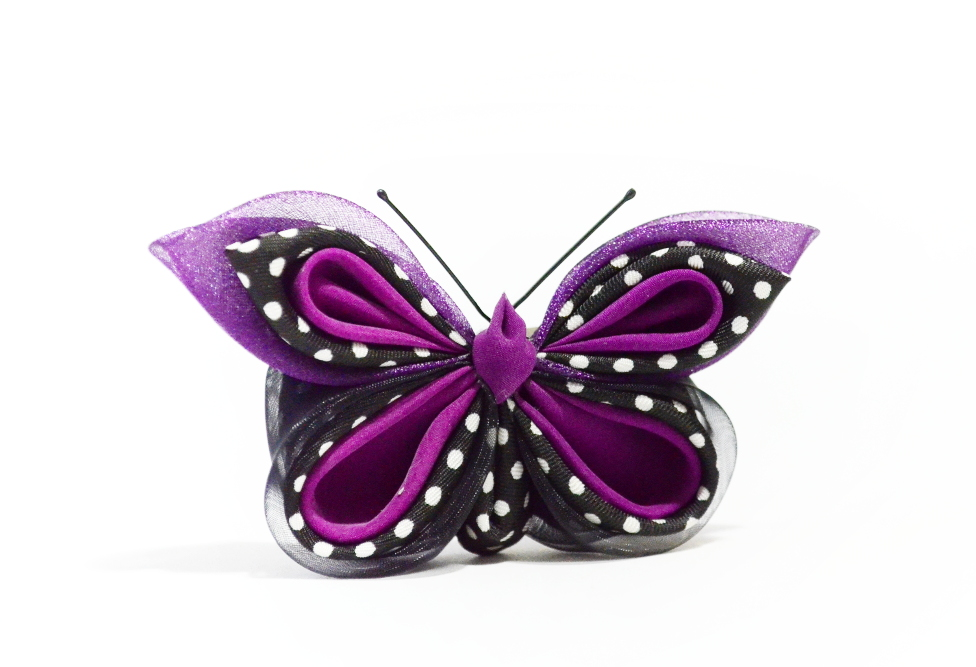 Fluture buline mov negru