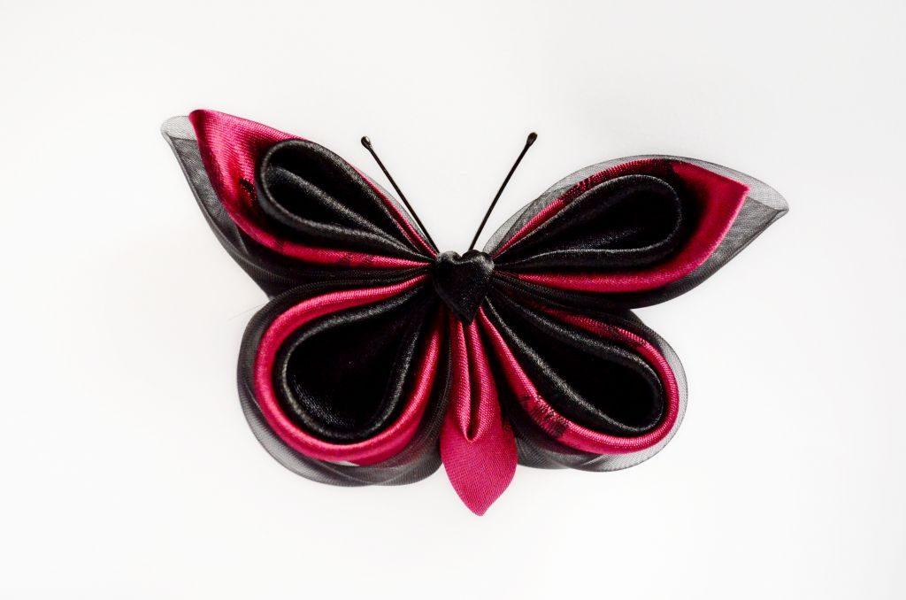 fluture negru visiniu