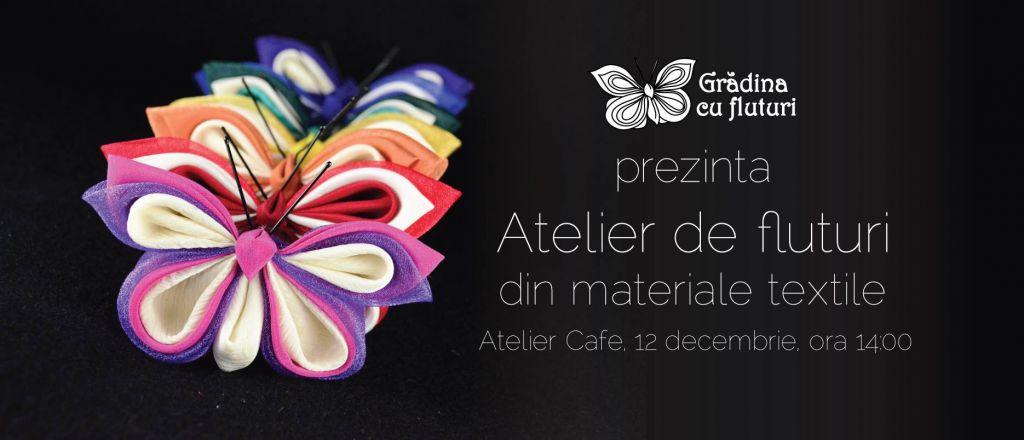 Atelier fluturi textile Cluj decembrie 2015