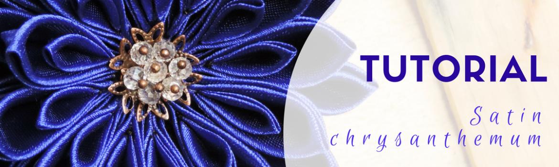 Satin chrysanthemum tutorial
