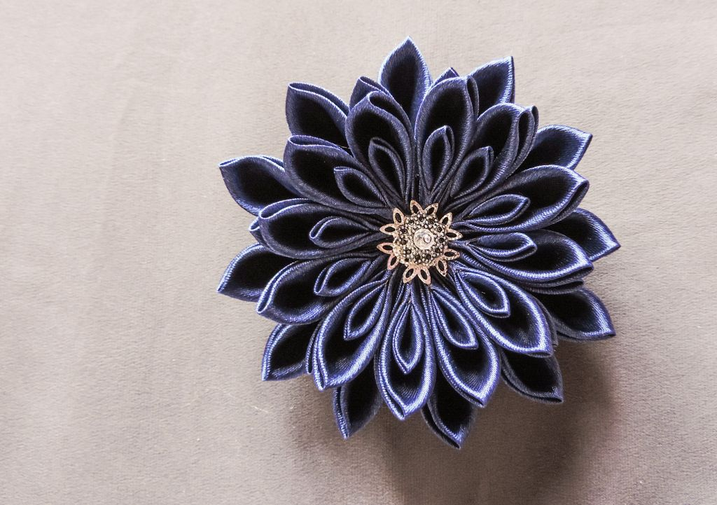Kanzashi chrysanthemum original tutorial 15