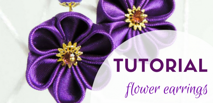 Tutorial fabric flower earrings