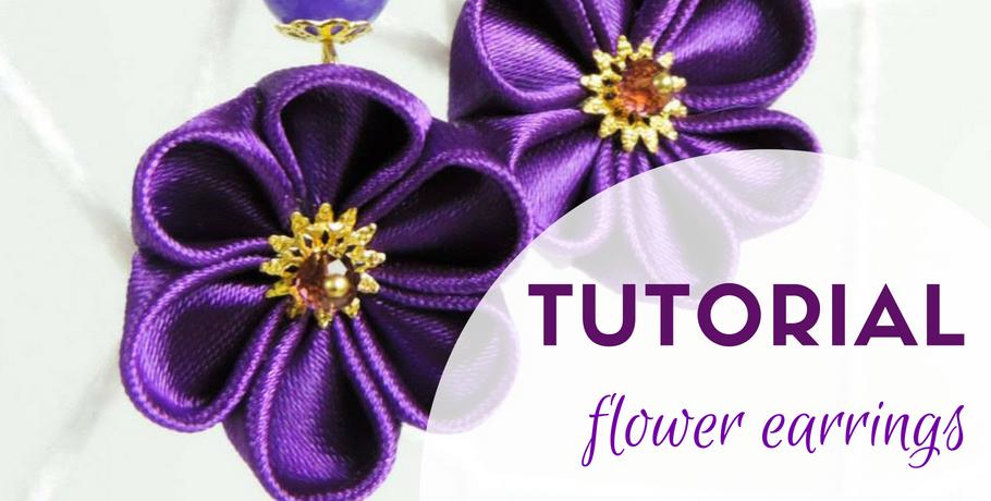 Tutorial fabric flower earrings