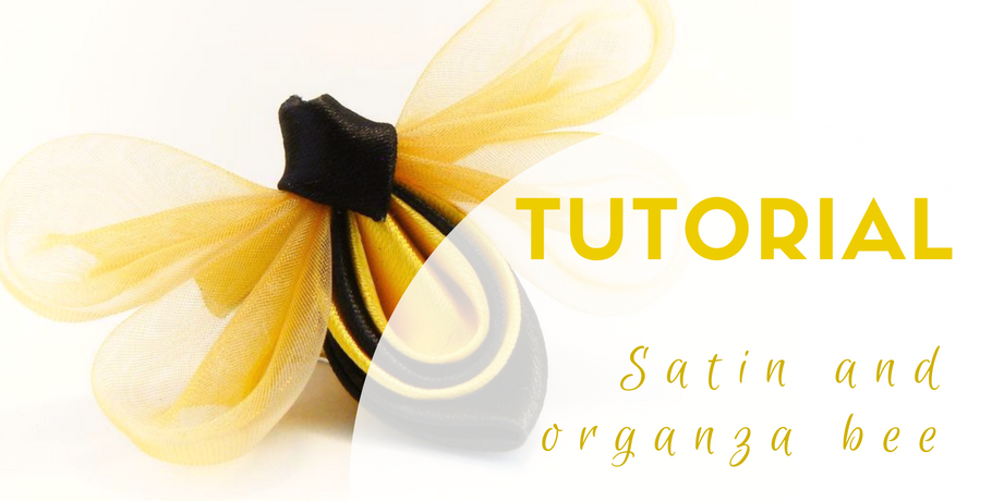 Tutorial satin and organza bee