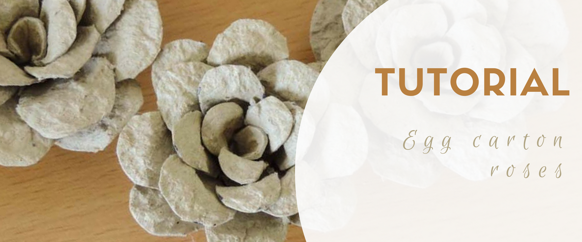 Tutorial egg carton roses