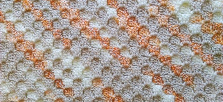 C2c corner-to-corner crochet baby blanket 4