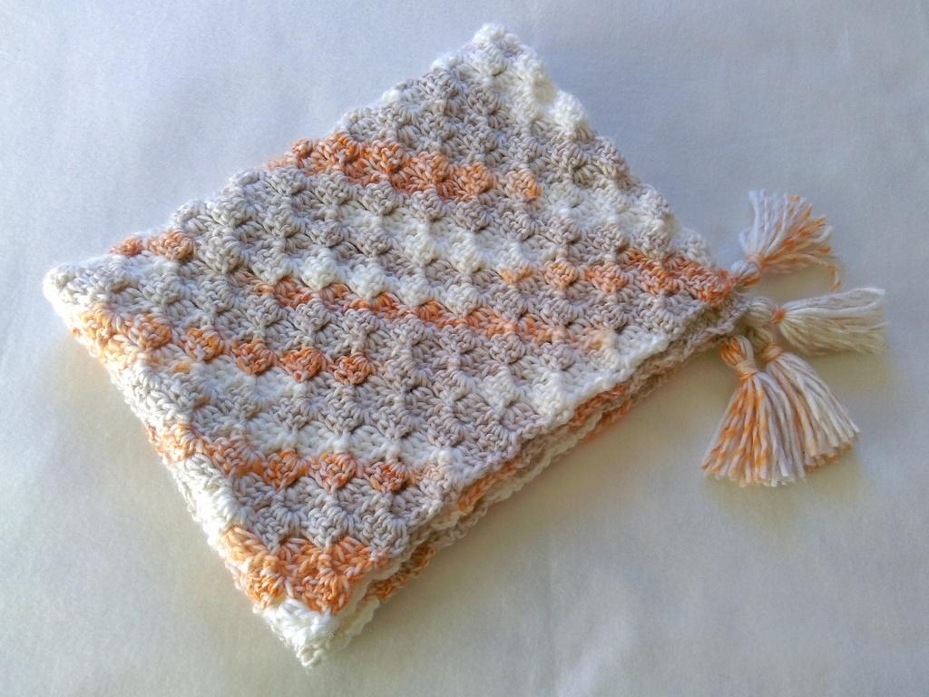 C2c corner-to-corner crochet baby blanket 1