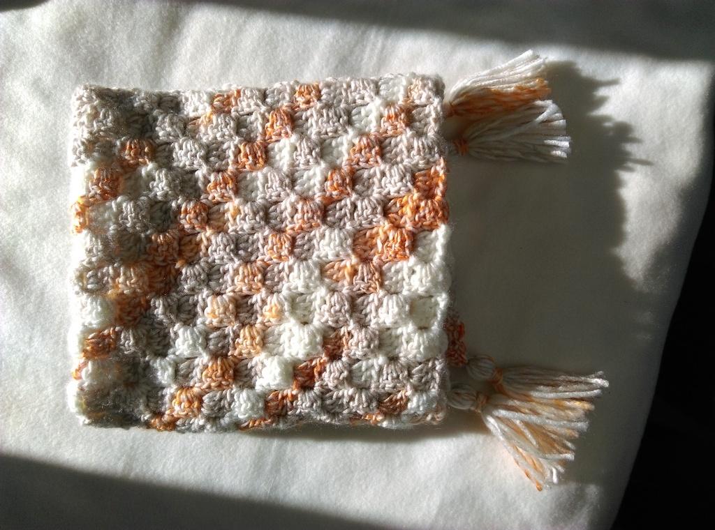 C2c corner-to-corner crochet baby blanket 6