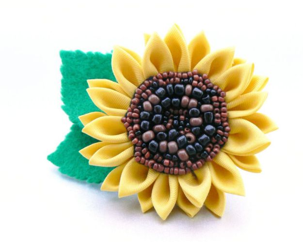 Beaded sunflower - second iteration