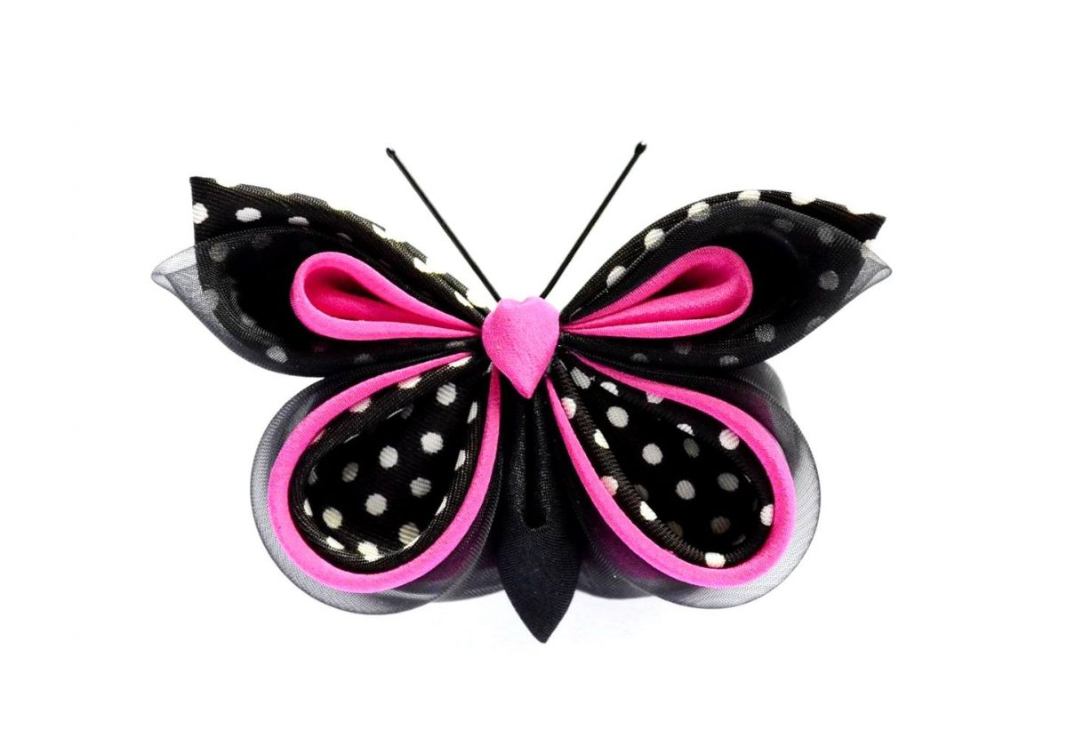 Silk butterfly product photography example