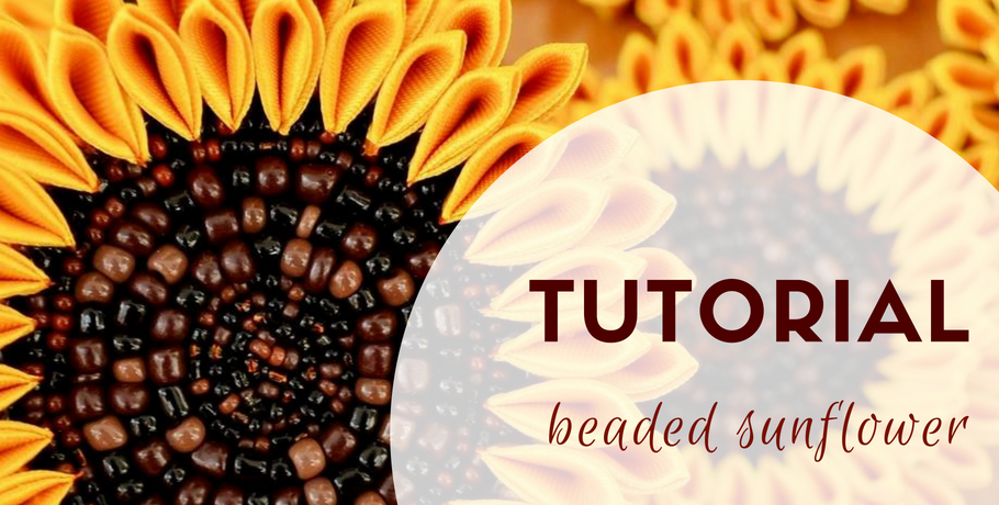 Tutorial bead embroidery sunflower
