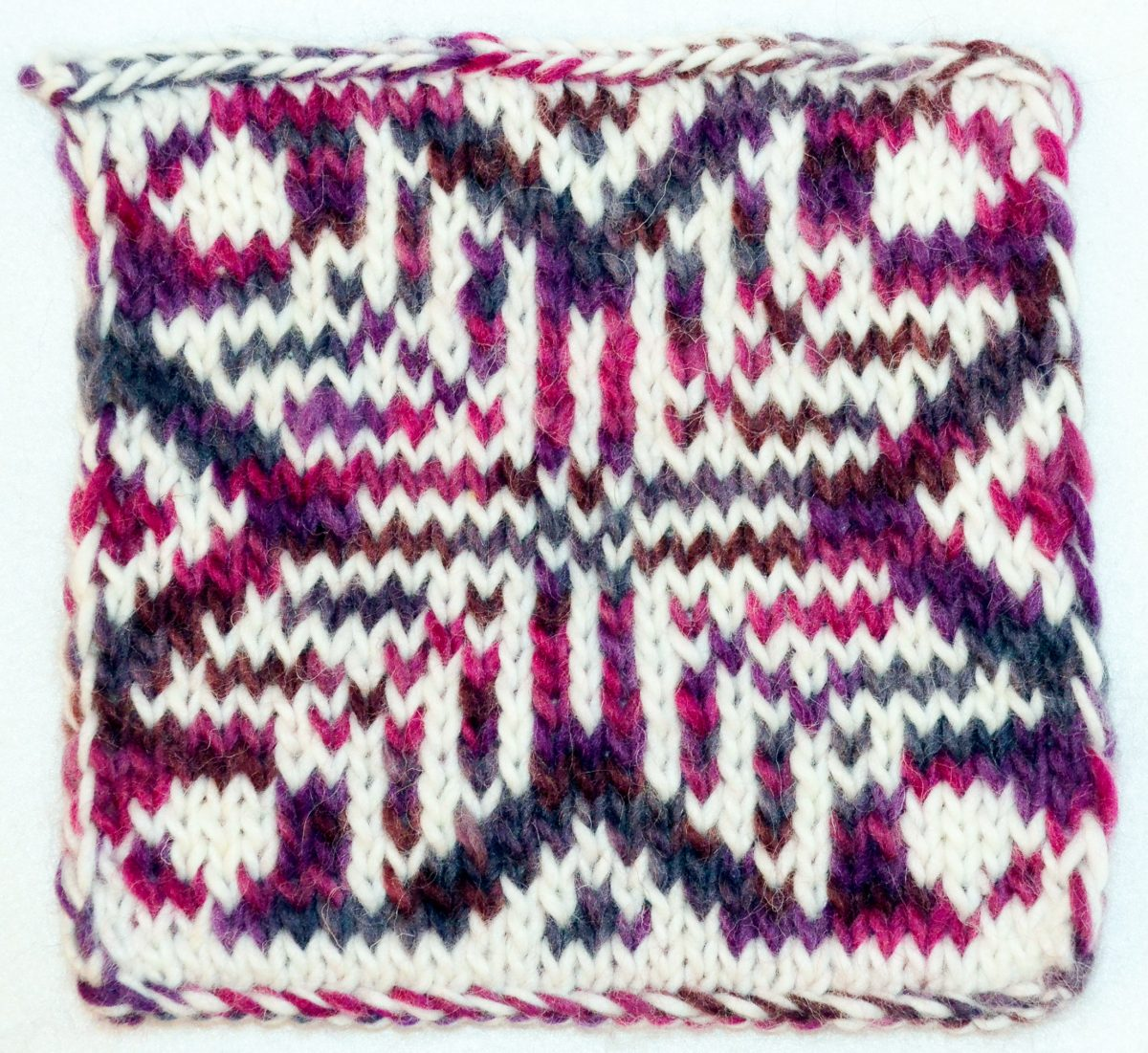 Double knit pattern - traditional motif