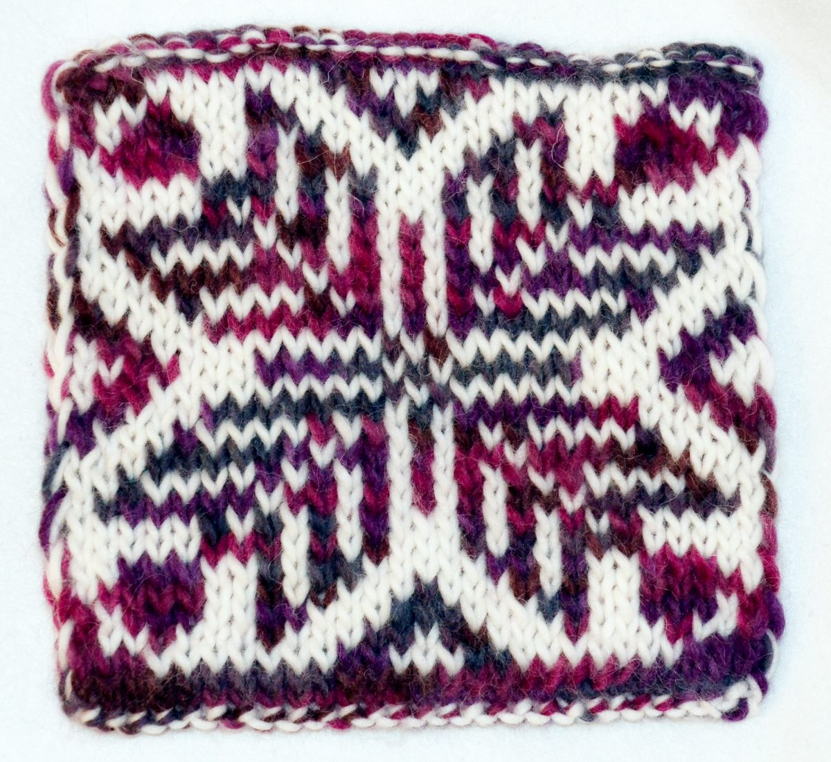 Double knit pattern - traditional motif other side