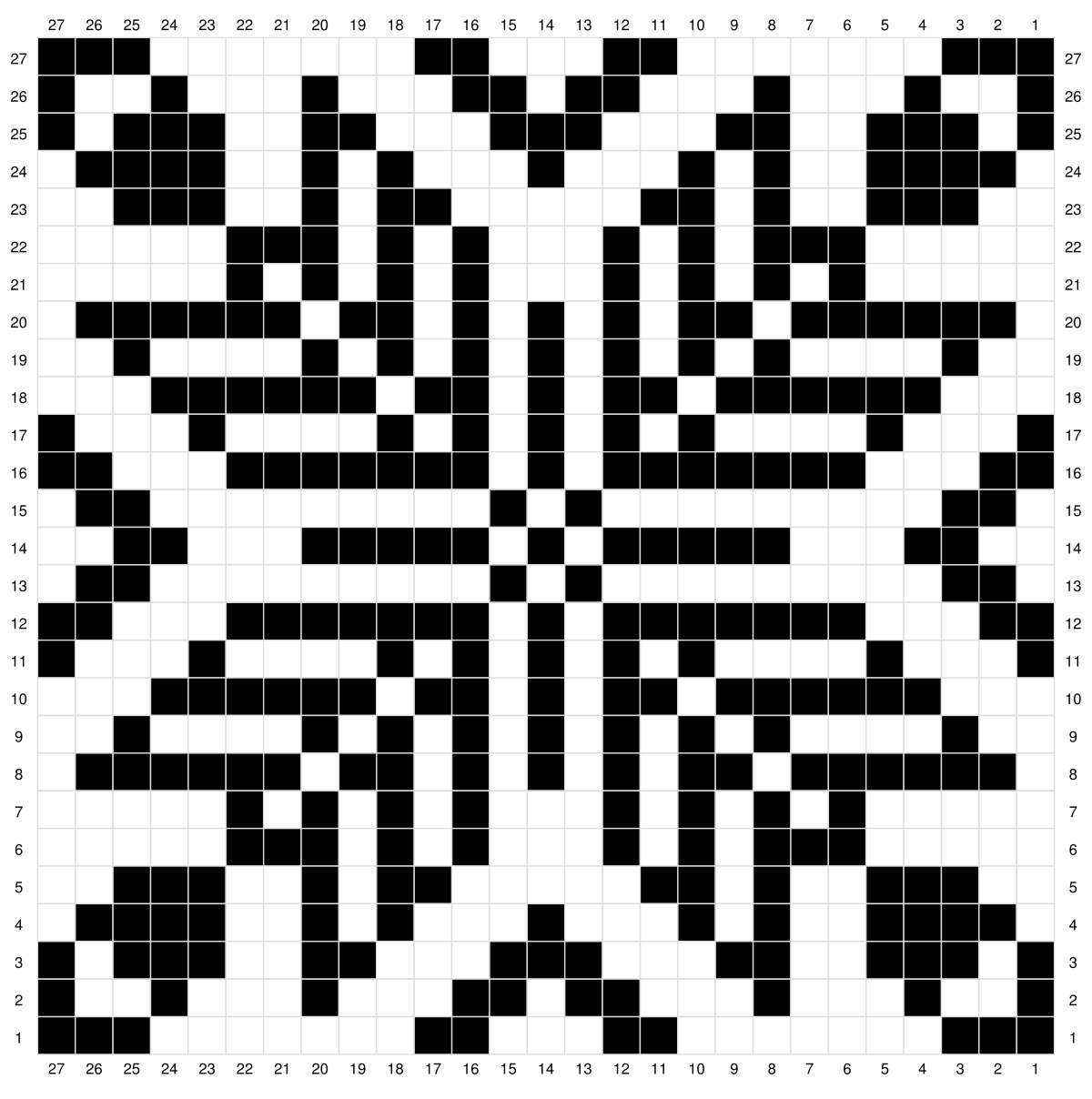Chart pattern for double knitting 1