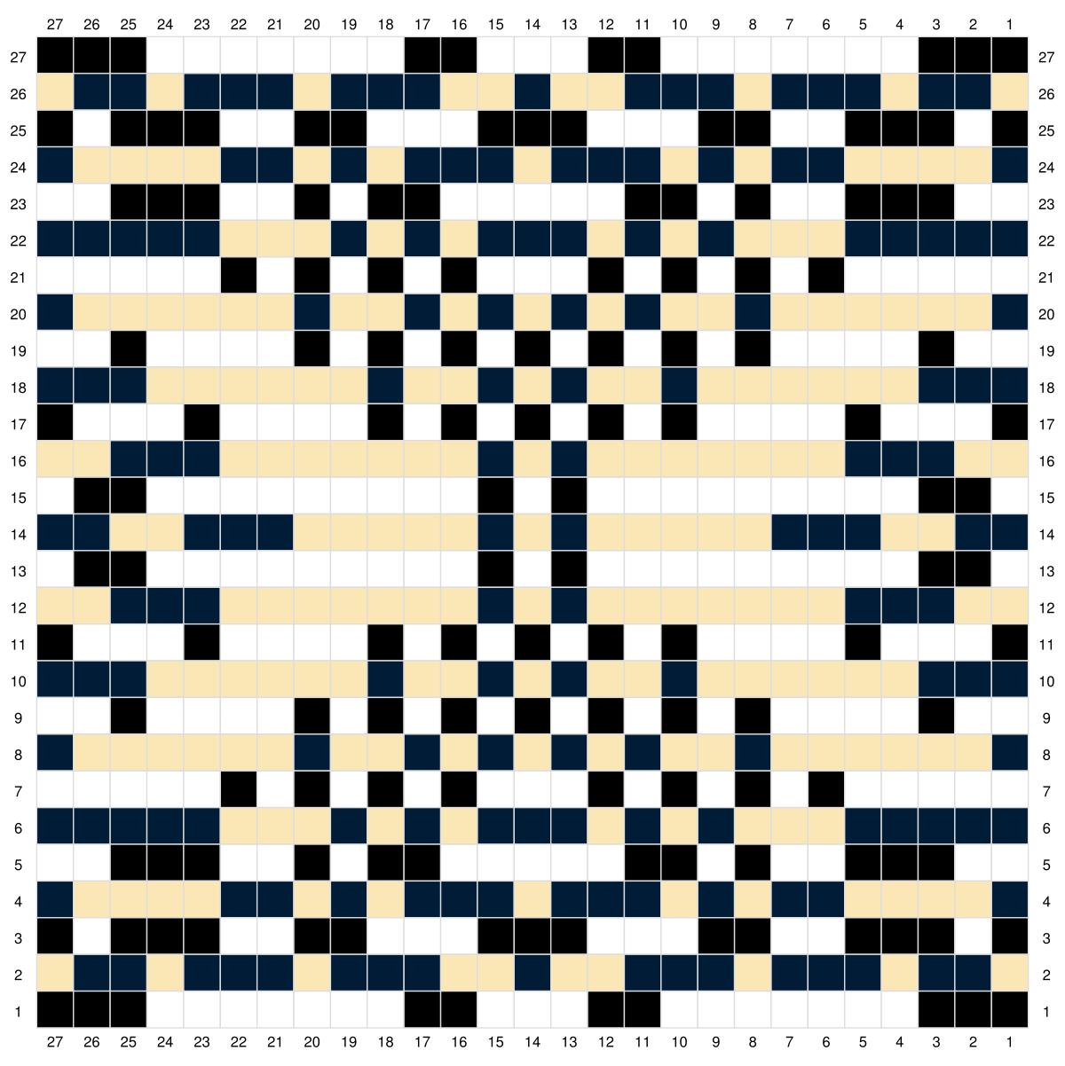 Chart pattern double knitting