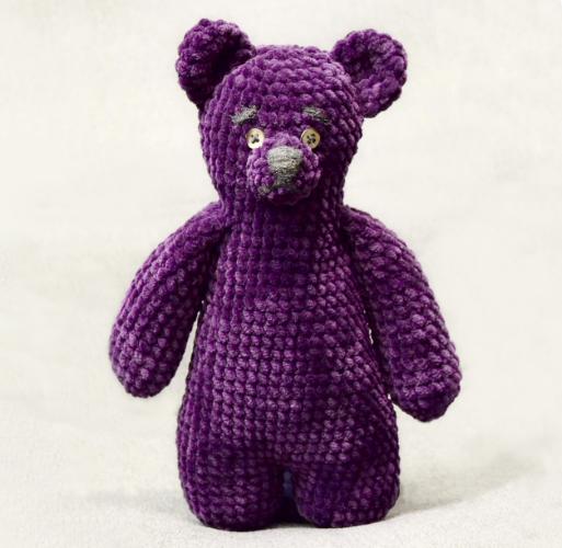 Big teddy chenille velvet yarn amigurumi free crochet pattern 3