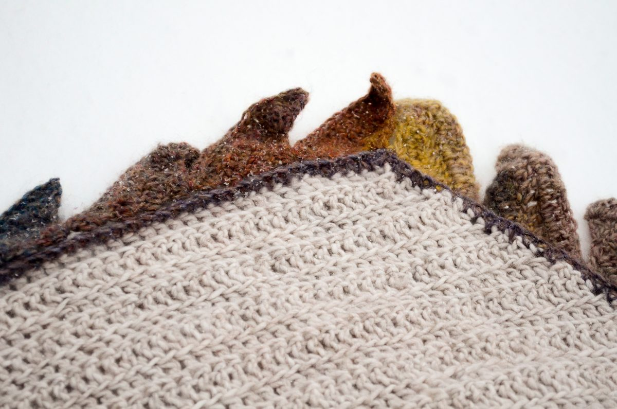 In flames Crochet Crescent Shawl 5