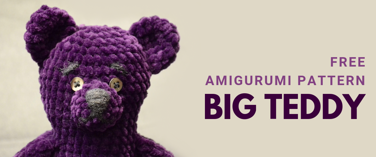 cover big teddy free amigurumi pattern