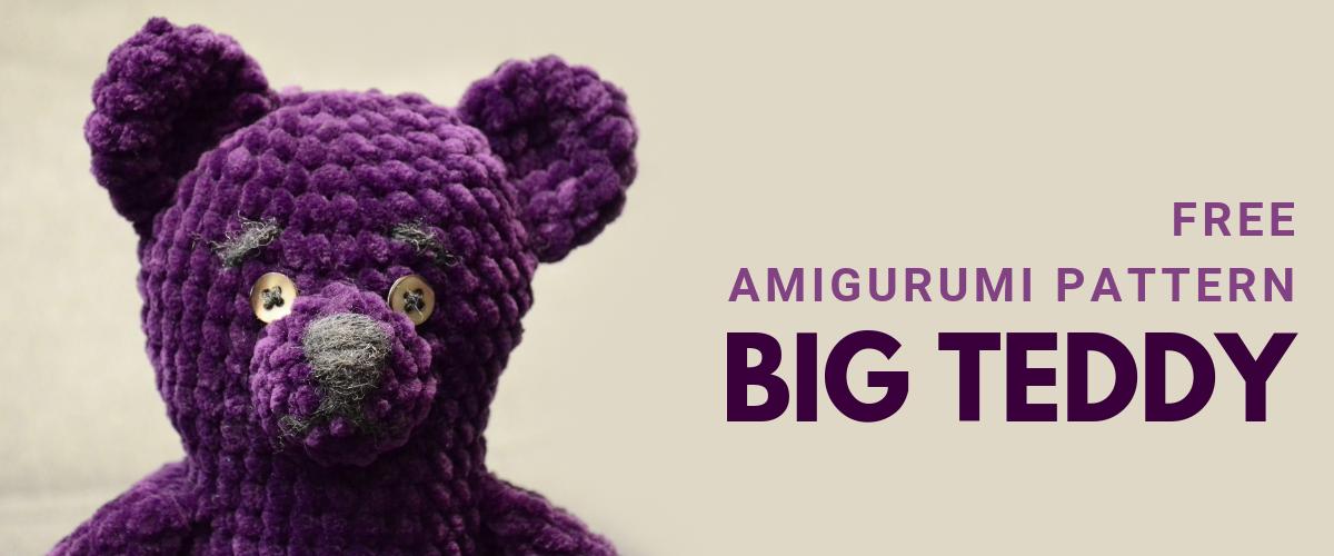 cover big teddy free amigurumi pattern