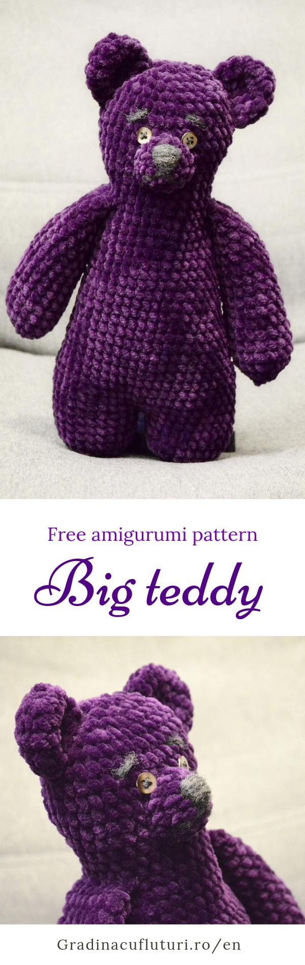 pinterest big teddy amigurumi free pattern